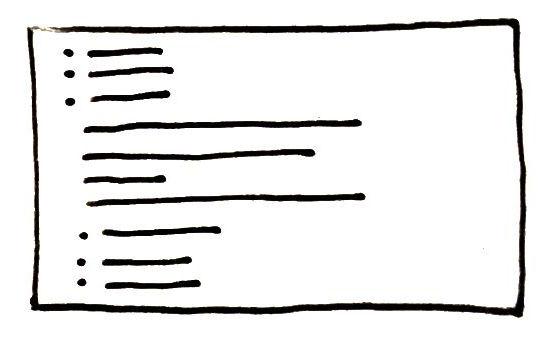 sketch of html list menus